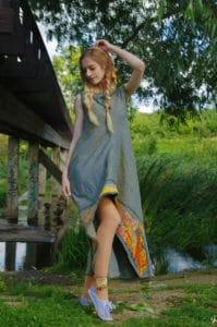 """Платье """"Сверхновая"""" в технике лоскутного шитья"""