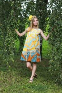 """Платье """"Солнечный ветер"""" в технике лоскутного шитья"""